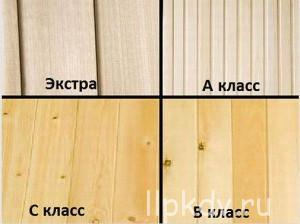 Классификация вагонки