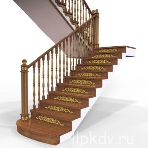 21076221 - wooden ladder on a white background