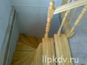 Делаем винтовую деревянную лестницу